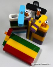 4'' Acrylic Dugout Assorted Color Design With Cigarette