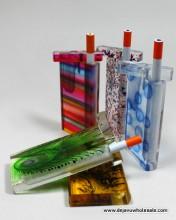 4'' Acrylic Dougout Assorted Design With Cigarette Bat