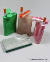 4'' Acrylic Dougout Assorted color Design With Cigarette Bat