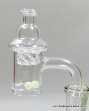 Quartz Banger with Spinner Carb Cap And Terp Pearls (14mm male)