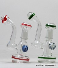 """5.75"""" Color Line Bubbler with Dome and Nail"""