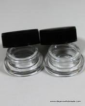 7ml Child Resistant Clear Glass Jar Container