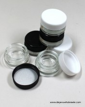 10 ml Clear Glass With Plastic Top Container