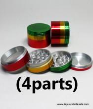 50mm Rasta Aluminum Grinder (4 Parts)