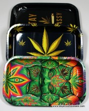 10.5'' x 6.25'' Large Assorted Design Tobacco Rolling Tray