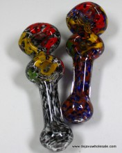 5.5'' Double Chamber Frit Color Full Hand Pipe