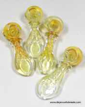 3.75'' Silver Fumed With Single Rim Spoon Pipe