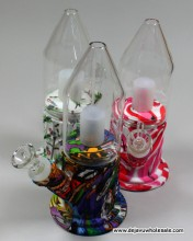 7.75'' Bottle Shaped W/ In Side Perc Silicone W/p (14mm Bowl)