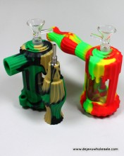 Silicone Hammer Bubbler With Nectar Collector (2 in 1)