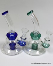 5.5'' Top Part Bending With Shower Head Perc Water Pipe With Bowl